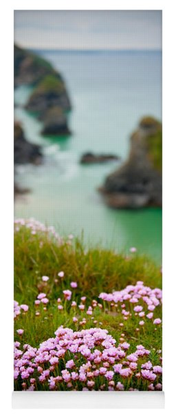 Wild Sea Pinks In Cornwall Yoga Mat