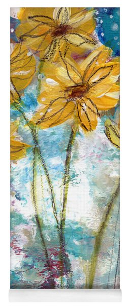 Wild Sunflowers- Art By Linda Woods Yoga Mat