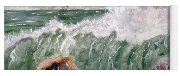 Wild Surf Waves Yoga Mat