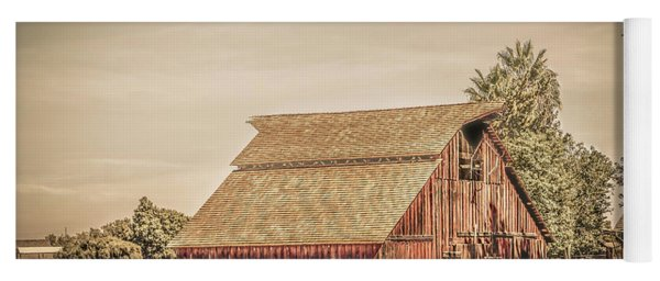 Wild West Barn And Hay Wagon Yoga Mat