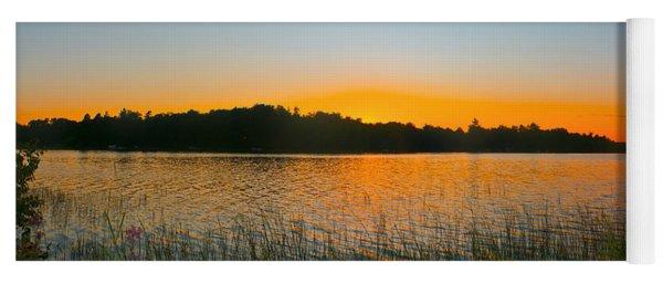Wilderness Point Sunset Panorama Yoga Mat