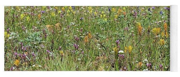 Wildflower Fence Yoga Mat