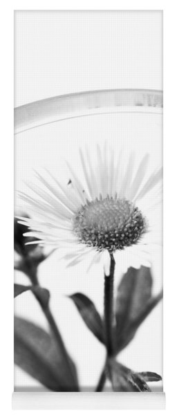 Wildflower In A Wine Glass Black And White Yoga Mat