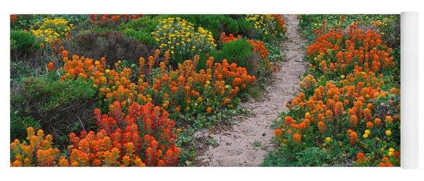 Wildflower Path At Ribera Beach Yoga Mat