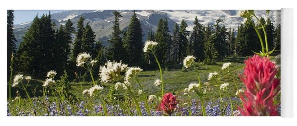 Wildflowers In Mount Rainier National Yoga Mat