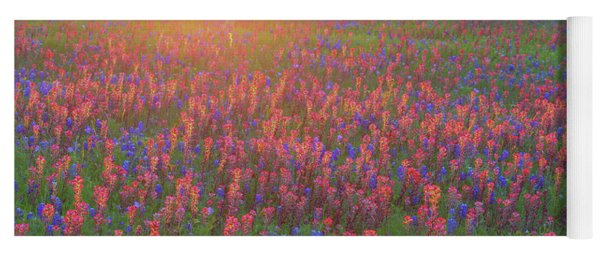 Wildflowers In Texas Yoga Mat