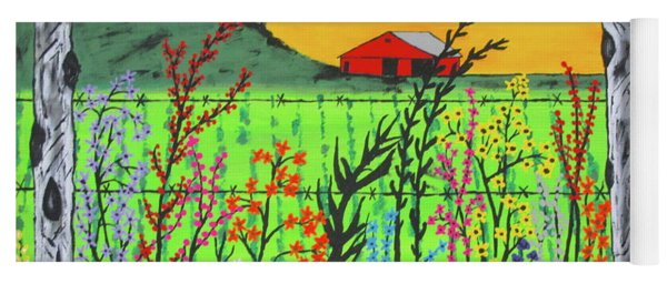 Wildflowers On The Farm Yoga Mat