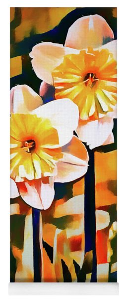 Wildly Abstract Daffodil Pair Yoga Mat