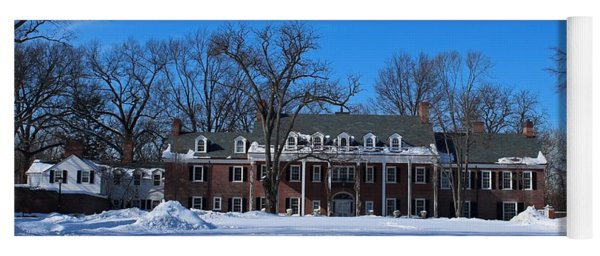 Wildwood Manor House In The Winter Yoga Mat