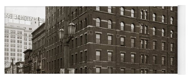 Wilkes Barre Pa Hollenback Coal Exchange Building Corner Of Market And River Sts April 1937 Yoga Mat