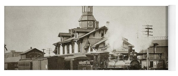 Wilkes Barre Pa. New Jersey Central Train Station Early 1900's Yoga Mat