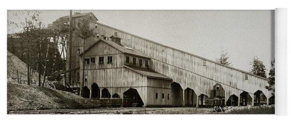 Wilkes Barre Twp Pa Empire Number 5 Coal Breaker 1880 Lehigh And Wb Coal Co. Yoga Mat