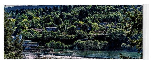 Willamette River Falls Locks Yoga Mat