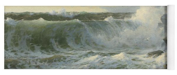 Yoga Mat featuring the painting William Trost Richards American 1833  1905   Seascape by Artistic Panda