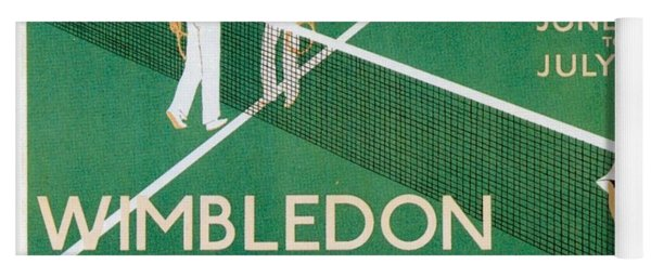 Wimbledon Tennis Southfield Station - London Underground - Retro Travel Poster - Vintage Poster Yoga Mat