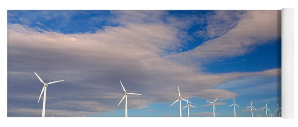 Wind Farm Against The Sky Yoga Mat