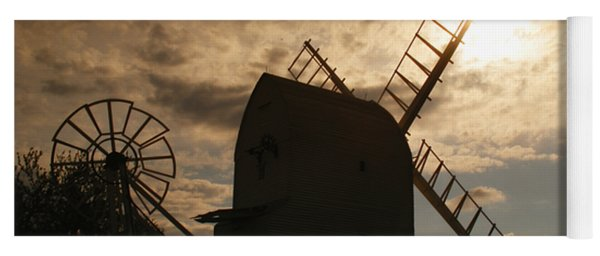 Windmill At Dusk  Yoga Mat