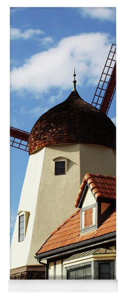 Windmill At Solvang, California Yoga Mat