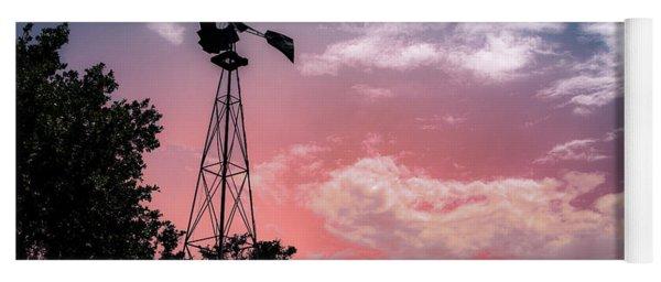 Windmill At Sunset Yoga Mat