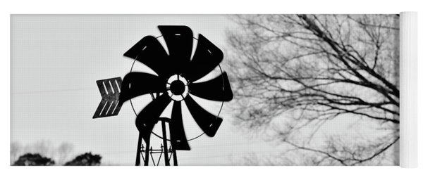 Yoga Mat featuring the photograph Windmill On The Farm by Nicole Lloyd
