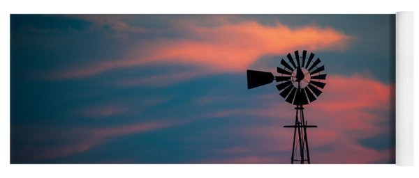Windmill Sunset Yoga Mat