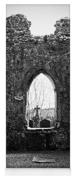 Window At Fuerty Church Roscommon Ireland Yoga Mat