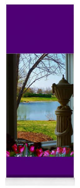 Window View Pond Yoga Mat