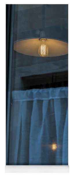 Window With Lamp Yoga Mat