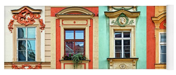 Windows Of Prague Yoga Mat