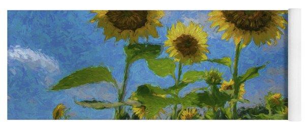 Windsor Castle Sunflowers Yoga Mat