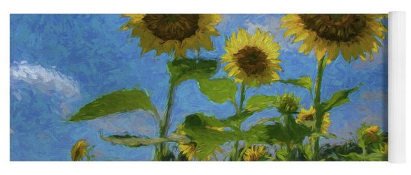 Windsor Castle Sunflowers Yoga Mat
