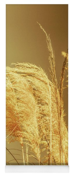 Windswept Autumn Brush Grass Yoga Mat