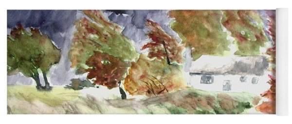 Windswept Landscape Yoga Mat
