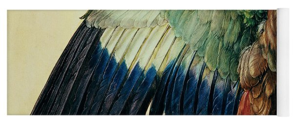 Wing Of A Blue Roller Yoga Mat