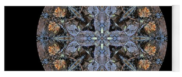 Winged Creatures In A Star Kaleidoscope #3 Yoga Mat