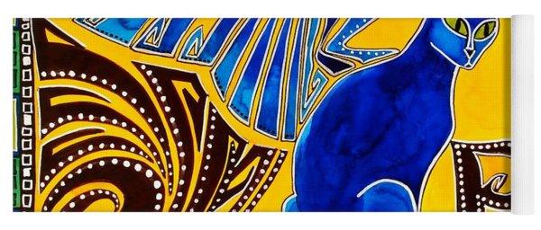 Winged Feline - Cat Art With Letter P By Dora Hathazi Mendes Yoga Mat