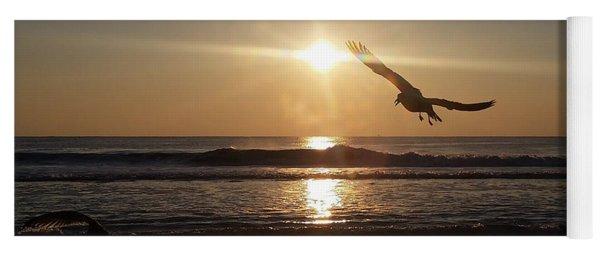 Wings Of Sunrise Yoga Mat