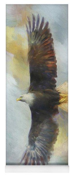Wingspan Bald Eagle Art Yoga Mat
