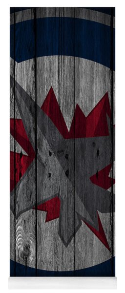 Winnipeg Jets Wood Fence Yoga Mat