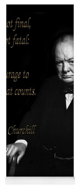 Winston Churchill 1 Yoga Mat