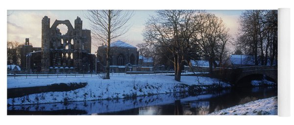 River Lossie And Elgin Cathedral In Winter Yoga Mat