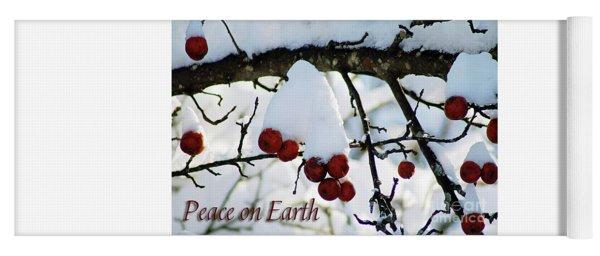 Winter Apples Peace On Earth Yoga Mat