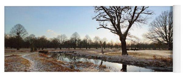 Winter Landscape Yoga Mat