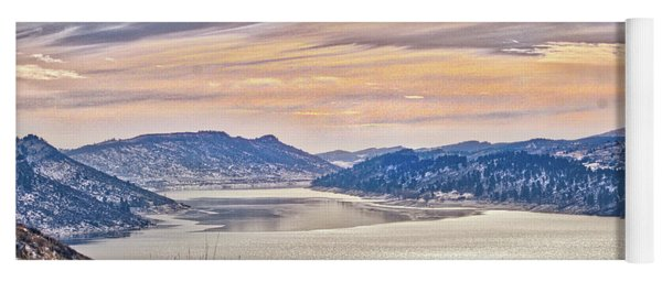 Winter At Horsetooth Reservior Yoga Mat