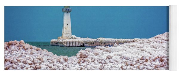 Winter At Sodus Point  Yoga Mat