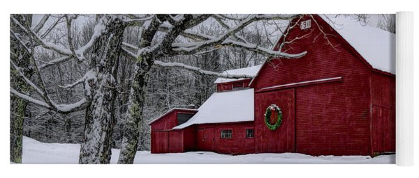 Winter Barn Yoga Mat