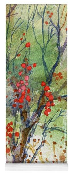 Winter Berries Yoga Mat