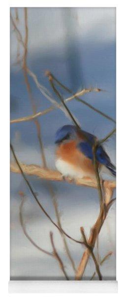 Winter Bluebird Art Yoga Mat