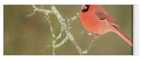 Winter Cardinal Yoga Mat