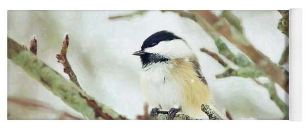 Winter Chickadee Yoga Mat